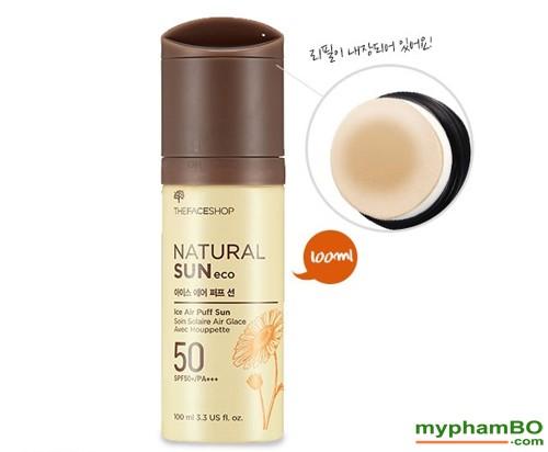 Xit chong nang The Face Shop Natural Sun Eco Ice Air Puff Sun SPF50 (1)