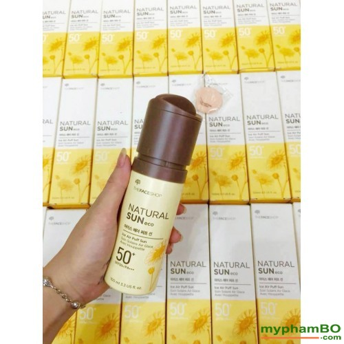 Xit chong nang The Face Shop Natural Sun Eco Ice Air Puff Sun SPF50 (2)