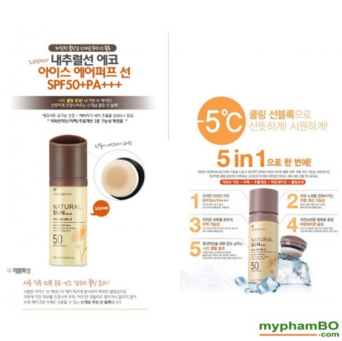 Xit chong nang The Face Shop Natural Sun Eco Ice Air Puff Sun SPF50 (3)