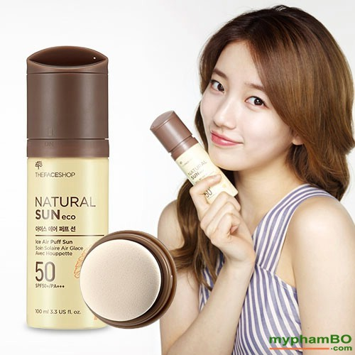 Xit chong nang The Face Shop Natural Sun Eco Ice Air Puff Sun SPF50 (5)
