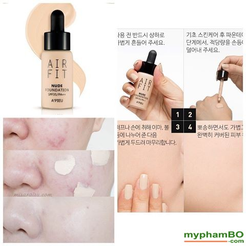 Kem nen Apieu Air Fit Nude Foundation (1)
