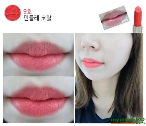 Son thoi innisfree creamy Tint Lipstick (2)