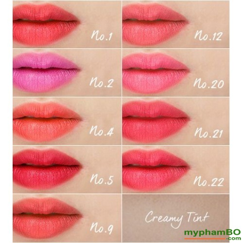 Son thoi innisfree creamy Tint Lipstick (4)