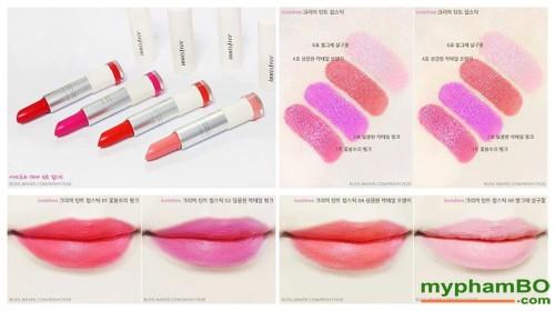 Son thoi innisfree creamy Tint Lipstick (6)