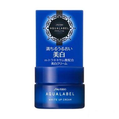 Kem-duong-trang-da-Shiseido-Aqualabel-White-Up-Cream-mau-xanh-1