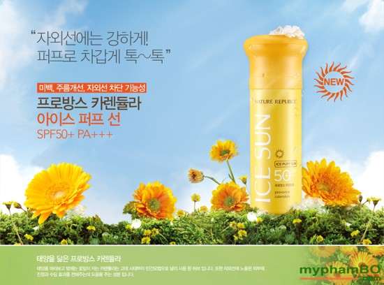 kem chng nang ICE SUN SPF50+ - Nature republic ice puff sun (3)
