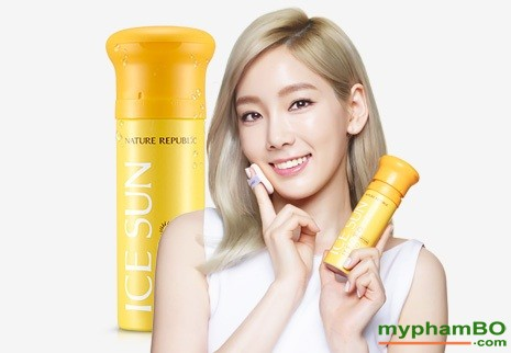 kem chng nang ICE SUN SPF50+ - Nature republic ice puff sun (6)