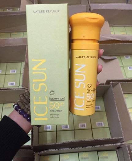 kem chong nang ICE SUN SPF50 Nature republic ice puff sun (6)