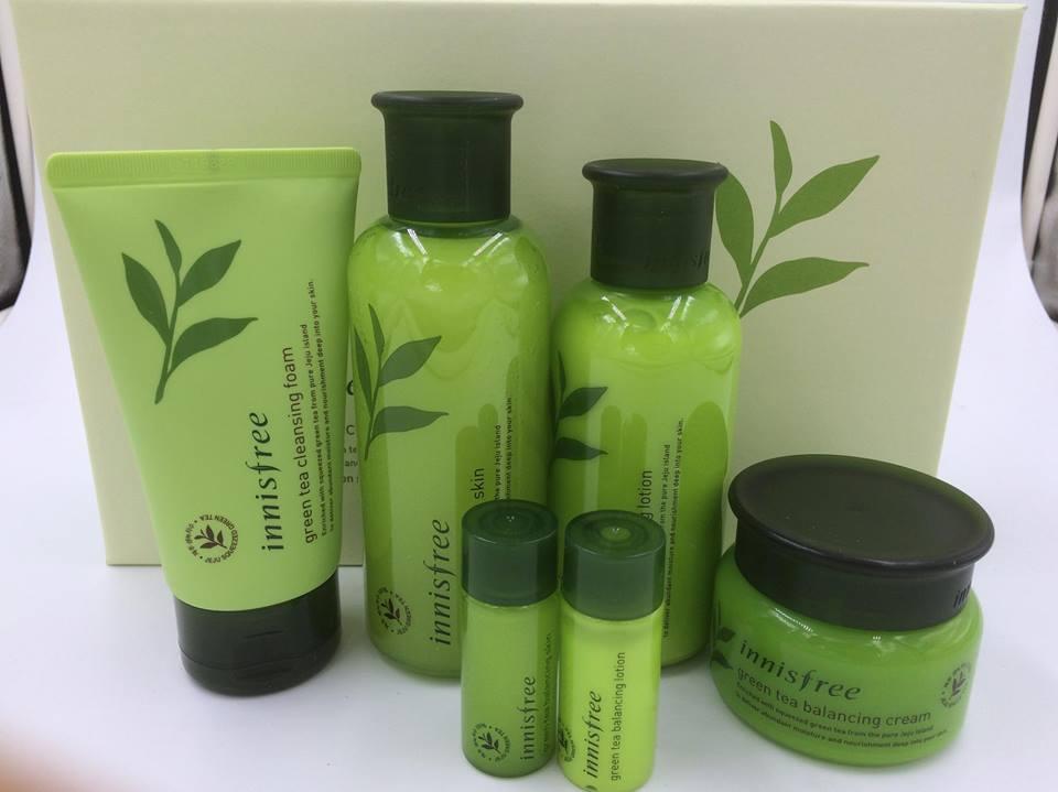 Bộ dưỡng trà xanh Innisfree Green Tea Balancing Special Skin Care Set 6in1 (1)