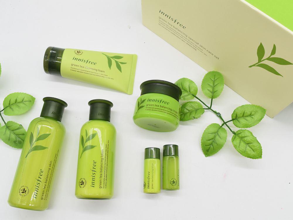 Bộ dưỡng trà xanh Innisfree Green Tea Balancing Special Skin Care Set 6in1 (8)
