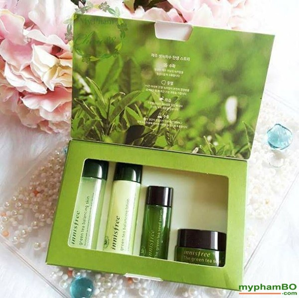 Bo duong da tra xanh mini Innisfree Green Tea Special Kit 4 in 1 (2)