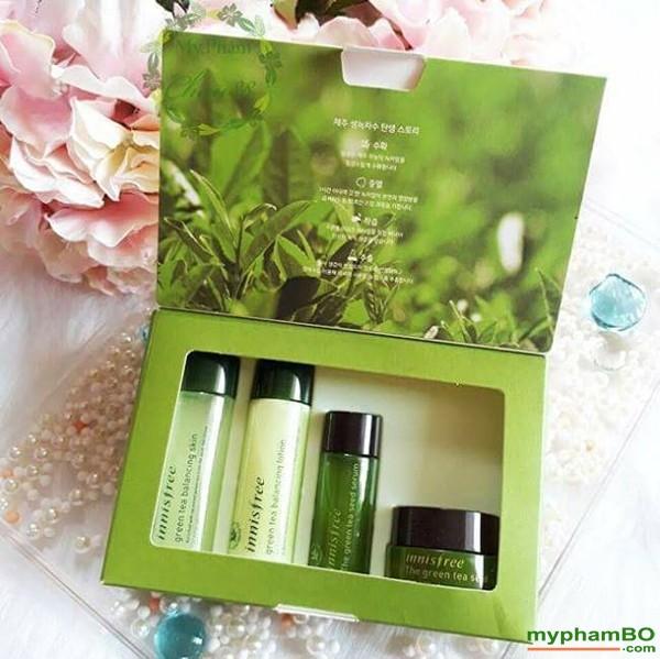 Bo duong da tra xanh mini Innisfree Green Tea Special Kit 4 in 1 (2)