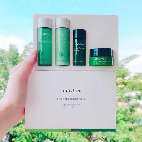 Bo duong da tra xanh mini Innisfree Green Tea Special Kit 4 in 1 (4)