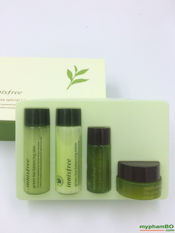 Bo duong da tra xanh mini Innisfree Green Tea Special Kit 4 in 1 (5)