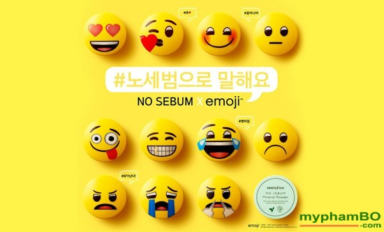 Phn Ph Kim Du Innisfree No Sebum Emoji - Hàn quc - Mineral Powder Emoji Limited Edition (2)