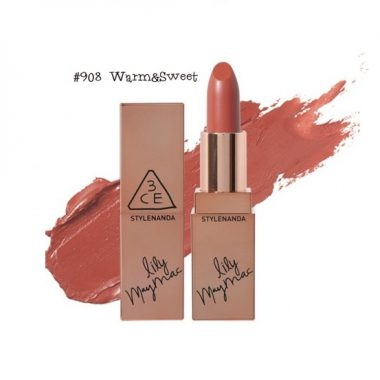 Son-thi-3CE-Lily-MayMac-908-Matte-Lip-Color-Màu-Warm-Sweet-5