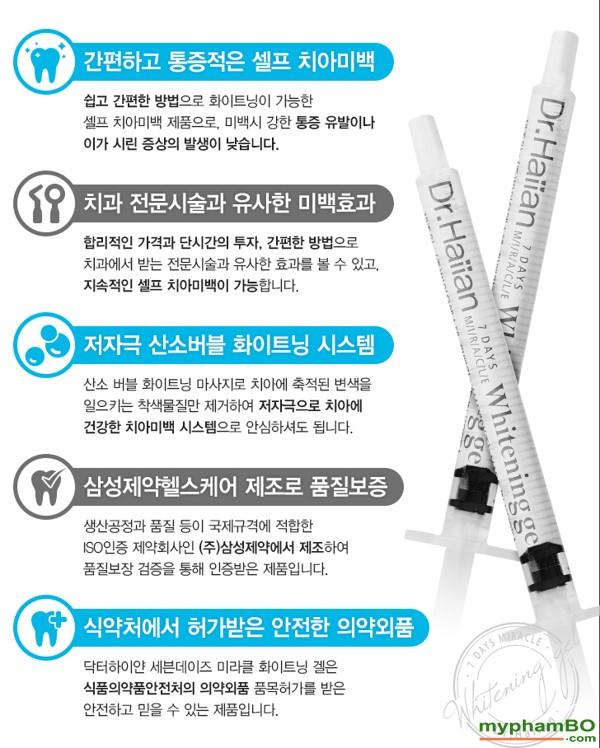 Gel lam trang rang 7 ngay Dr Haiian Professional Clinic Program (5)