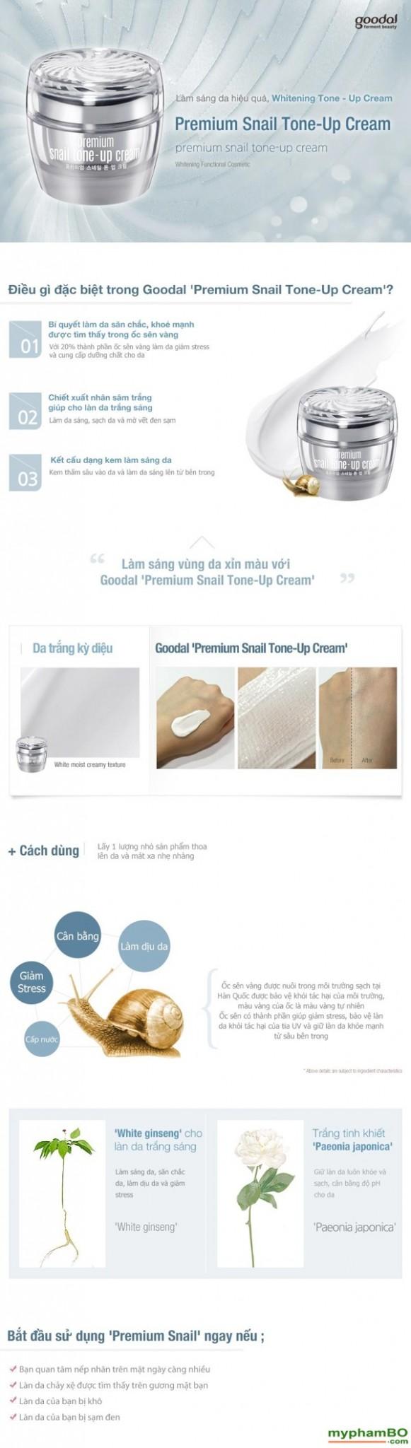 Kem Duong Da Cao Cap Oc Sen Goodal Premium Snail Tone Up Cream (1)