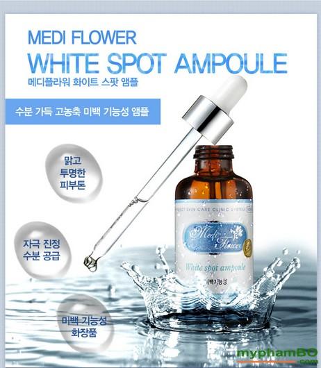 Serum trang da mat Cao Cap Han Quoc-Medi Flower White Spot Ampoule (1)(1)