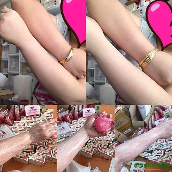 Xà phung tm trng Thoi Lan Bumebime Mask Natural Soap (4)