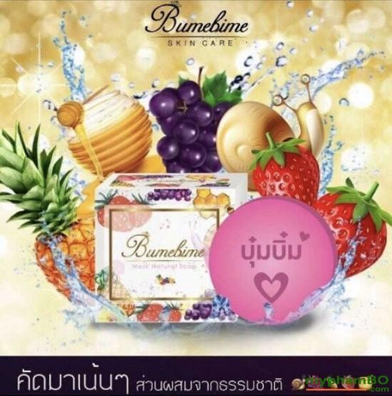 Xà phung tm trng Thoi Lan Bumebime Mask Natural Soap (5)