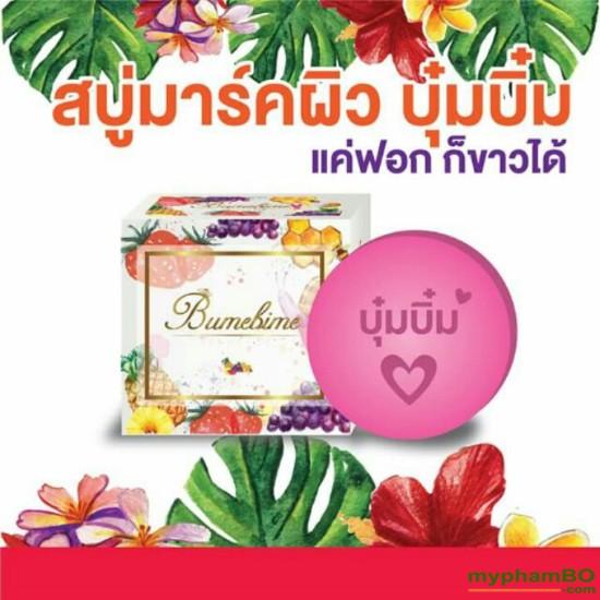 Xà phung tm trng Thoi Lan Bumebime Mask Natural Soap (9)