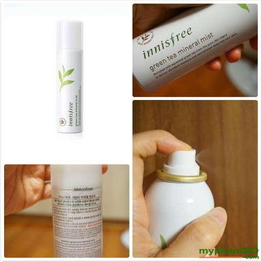 Xt khoong trà xanh INNISFREE Green Tea Mineral Mist 150ml (1)(2)