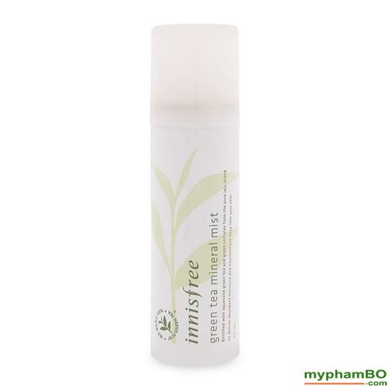 Xt khoong trà xanh INNISFREE Green Tea Mineral Mist 150ml (5)