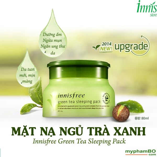 Mat Na Ngu Tra Xanh Innisfree Green Tea Sleeping pack(2)