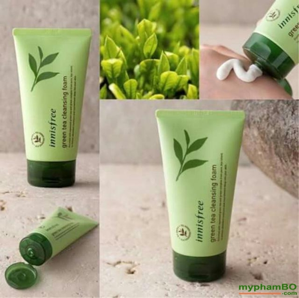 Sua rua mat mini innisfree tra xanh green tea cleansing foam (1)