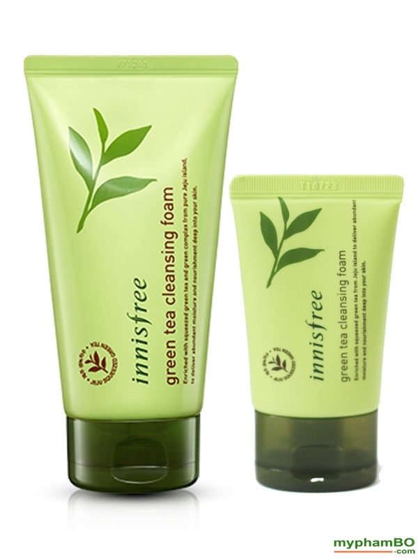 Sua rua mat mini innisfree tra xanh green tea cleansing foam (4)