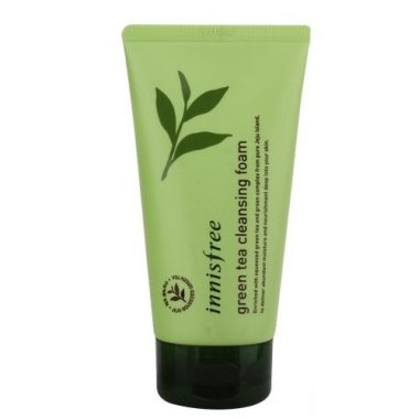 Sua rua mat mini innisfree tra xanh green tea cleansing foam (5)