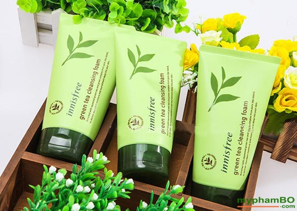 Sua rua mat mini innisfree tra xanh green tea cleansing foam (7)