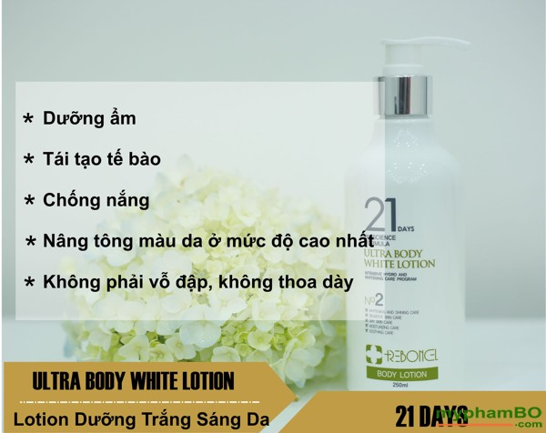 Bo doi san pham lam trang da Ultra Body Whitening 21Days - Han quoc (9)