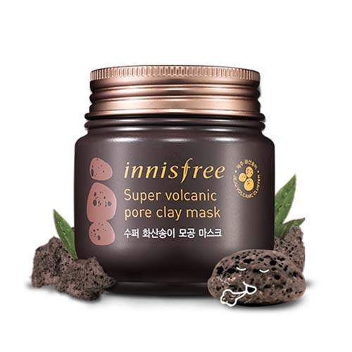 Mat na dat set Innisfree Super Volcanic Pore Clay Mask (5)