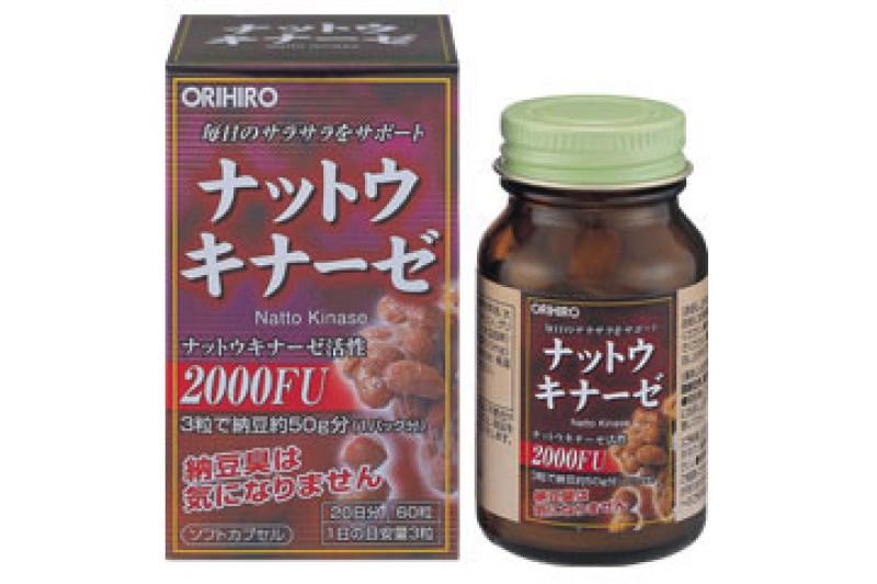 Vien uong Nattokinase 2000FU Orihiro chong dot quy, tai bien (2)
