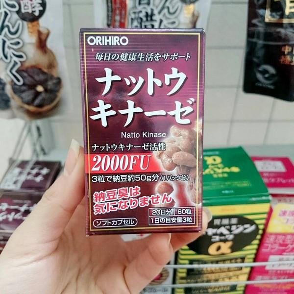 Vien uong Nattokinase 2000FU Orihiro chong dot quy, tai bien (5)