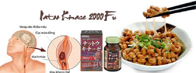 Vien uong Nattokinase 2000FU Orihiro chong dot quy, tai bien (6)