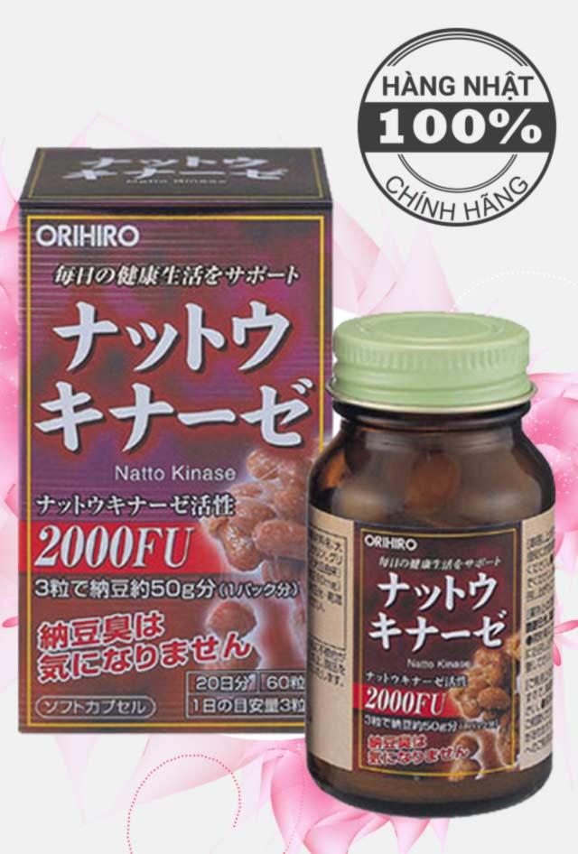 Vien uong Nattokinase 2000FU Orihiro chong dot quy, tai bien (7)