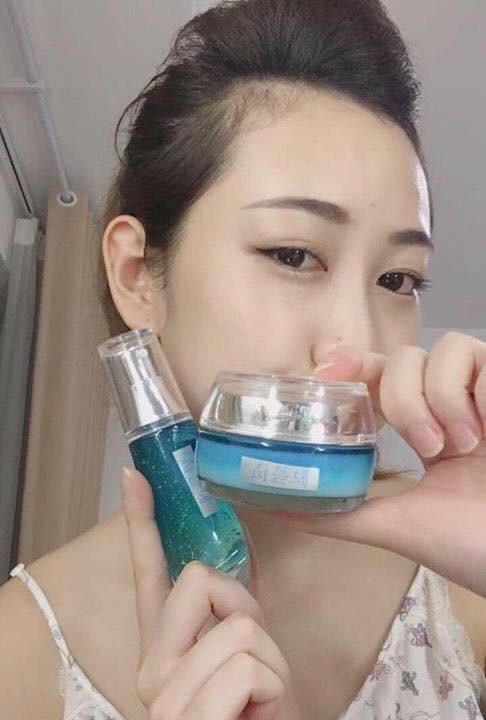 Bo kem duong trang Whitening Moisture Cream Ultra Lamer care (2)
