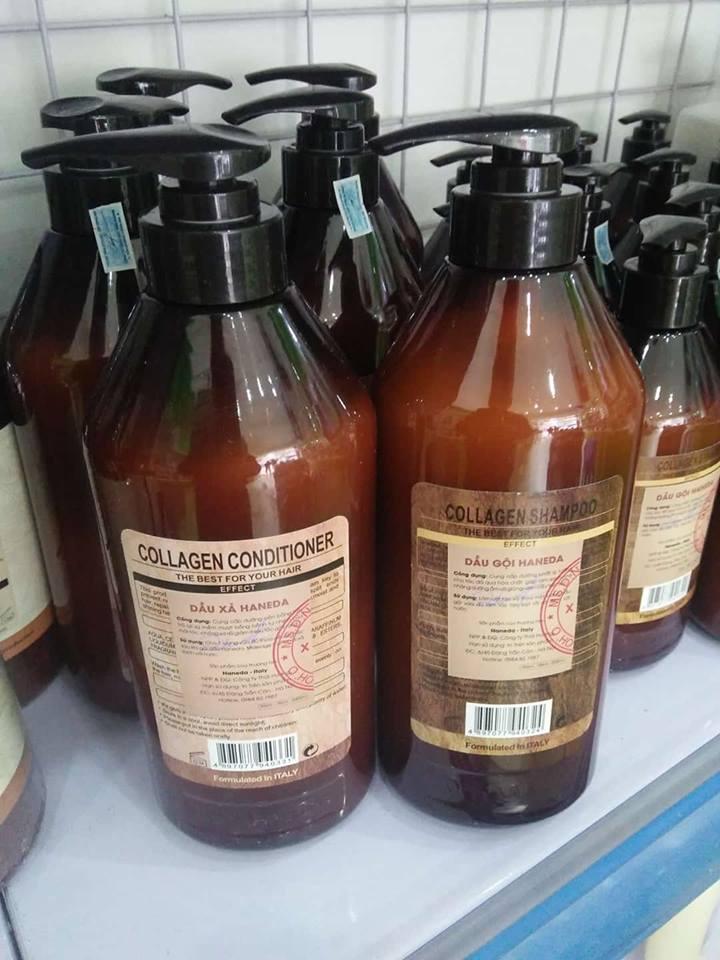 Bo Dau Goi Xa Haneda Collagen phuc hoi toc 785ml (2)