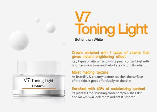 Kem Duong Trang Va Tai Tao Da V7 Toning Light Han Quoc (2)