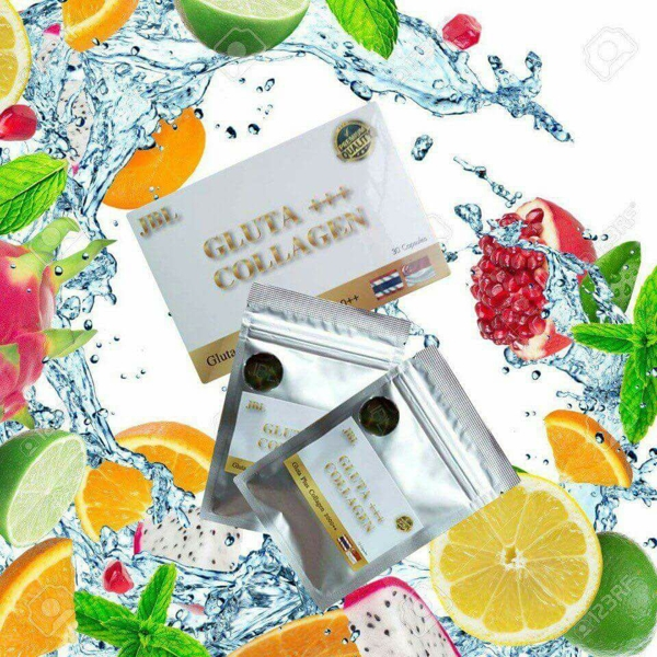 Vien Uong trang Hong Da Gluta Plus Collagen 2000++