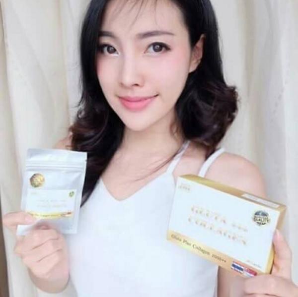 Vien Uong trang Hong Da Gluta Plus Collagen 2000++ (2)