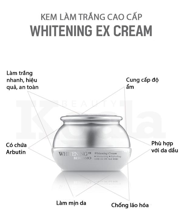 Kem duong trang da Bergamo Whitening EX Cream (6)