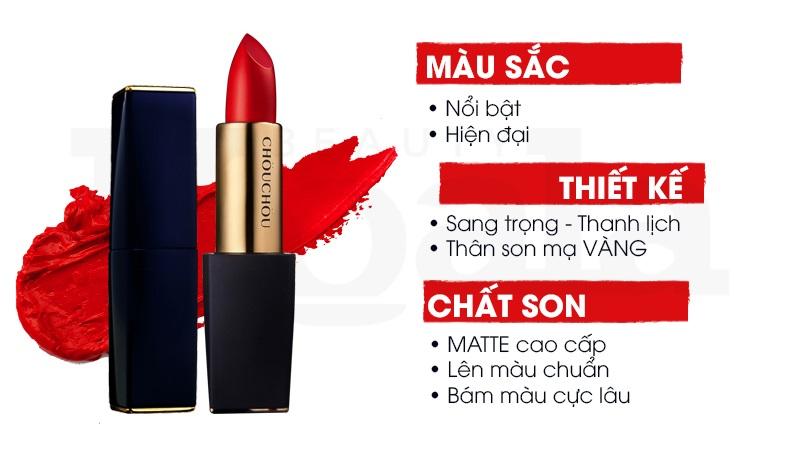 Son Thoi Chou Chou DESIRE Matte Rouge (2)