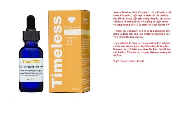Tinh chat Timeless Vitamin C + E + Ferulic Acid (1)