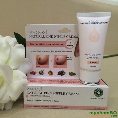 Kem lam hong nhu hoa Vacosi Natural Pink Nipple Cream (1) - Copy