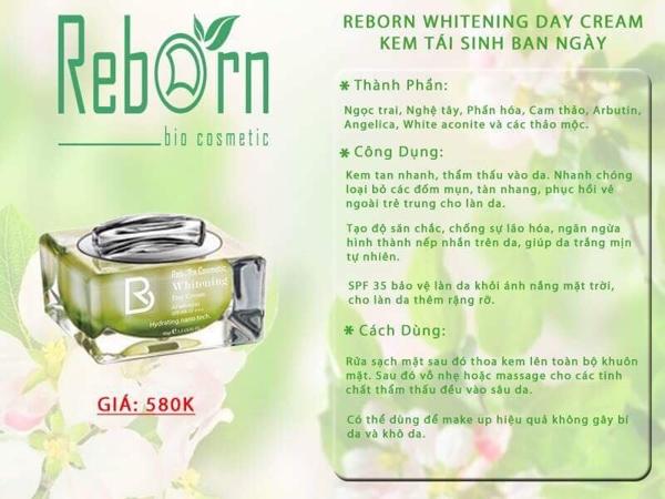 Kem tai sinh ban ngay Reborn Whitening Day Cream (5)