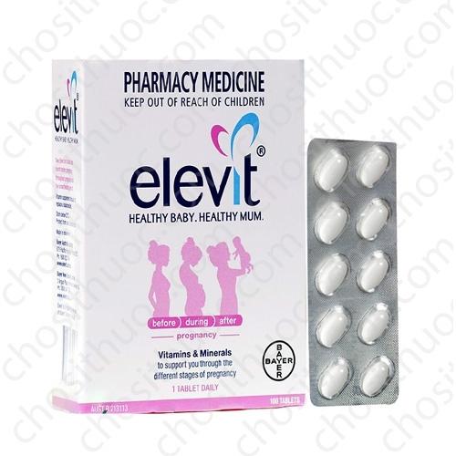 Thuoc Elevit vien uong danh cho ba bau loai 100 vien cua Uc (Bayer Australia) (6)